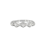 Vintage Retro 1940's Five Stone Diamond Twist Wedding Stacking Anniversary Band Ring Platinum