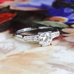 Art Deco 1930's Old European Cut Seven Stone Diamond Engagement Wedding Anniversary Platinum Ring