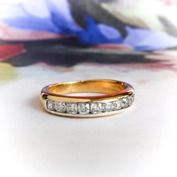 6eec25ff7 Estate Tiffany & Co. Wedding Band Circa 1990's .55ct t.w. Lucida Cut  Diamond Ring