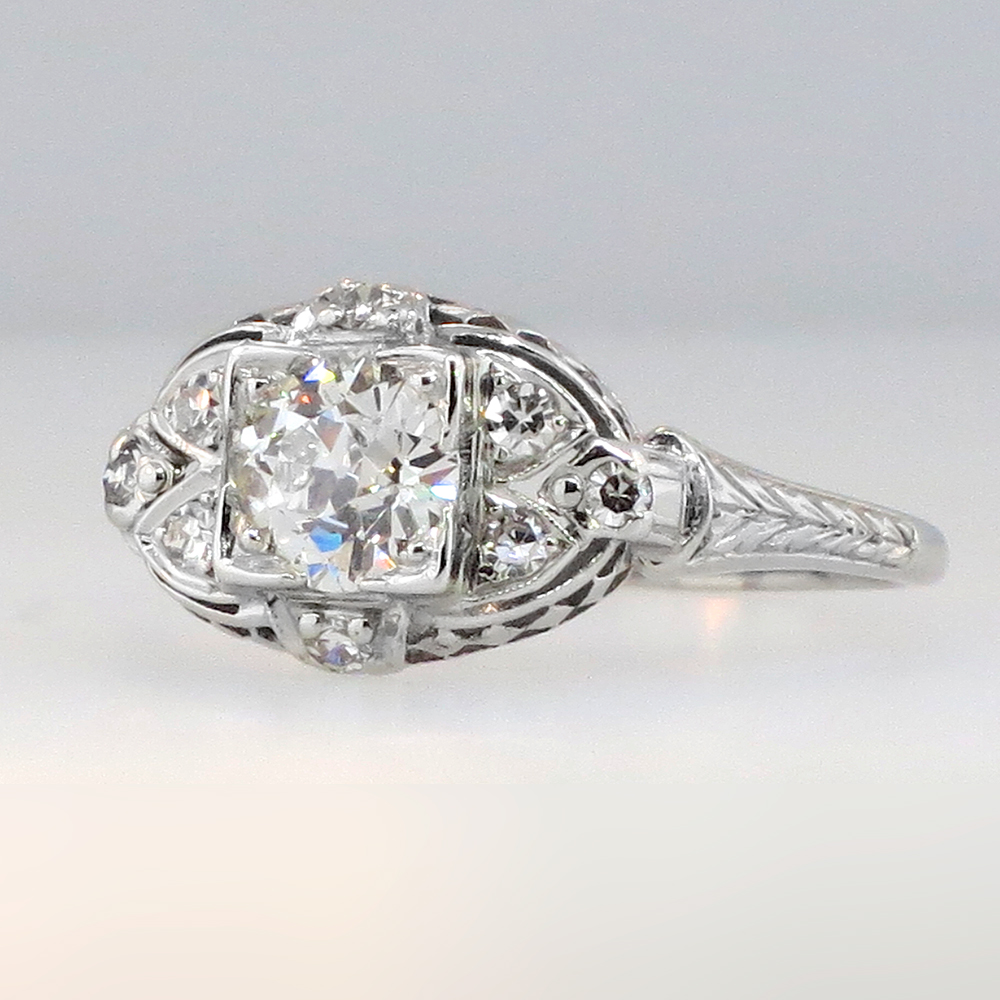 how to find the cut of diamond stamped on ring