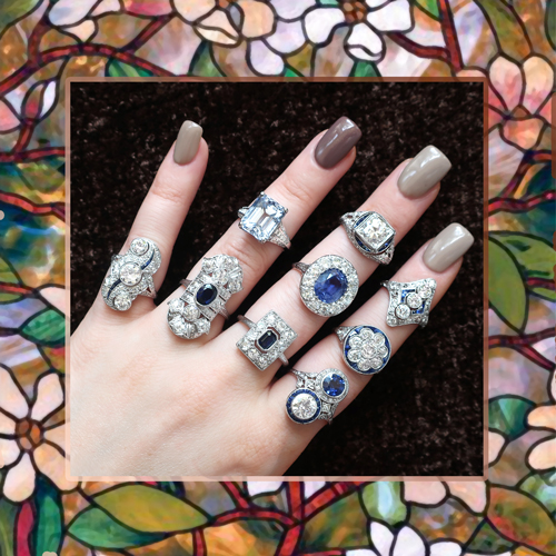 Antique, Vintage & Estate Sapphire Rings