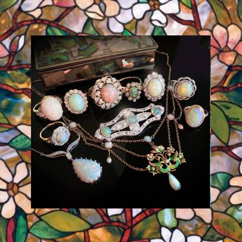 Vintage and Antique Opal Jewelry Collection