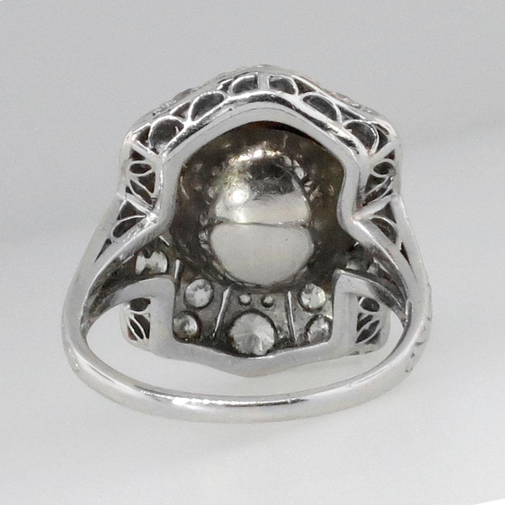 beautiful edwardian pearl mine cut ring