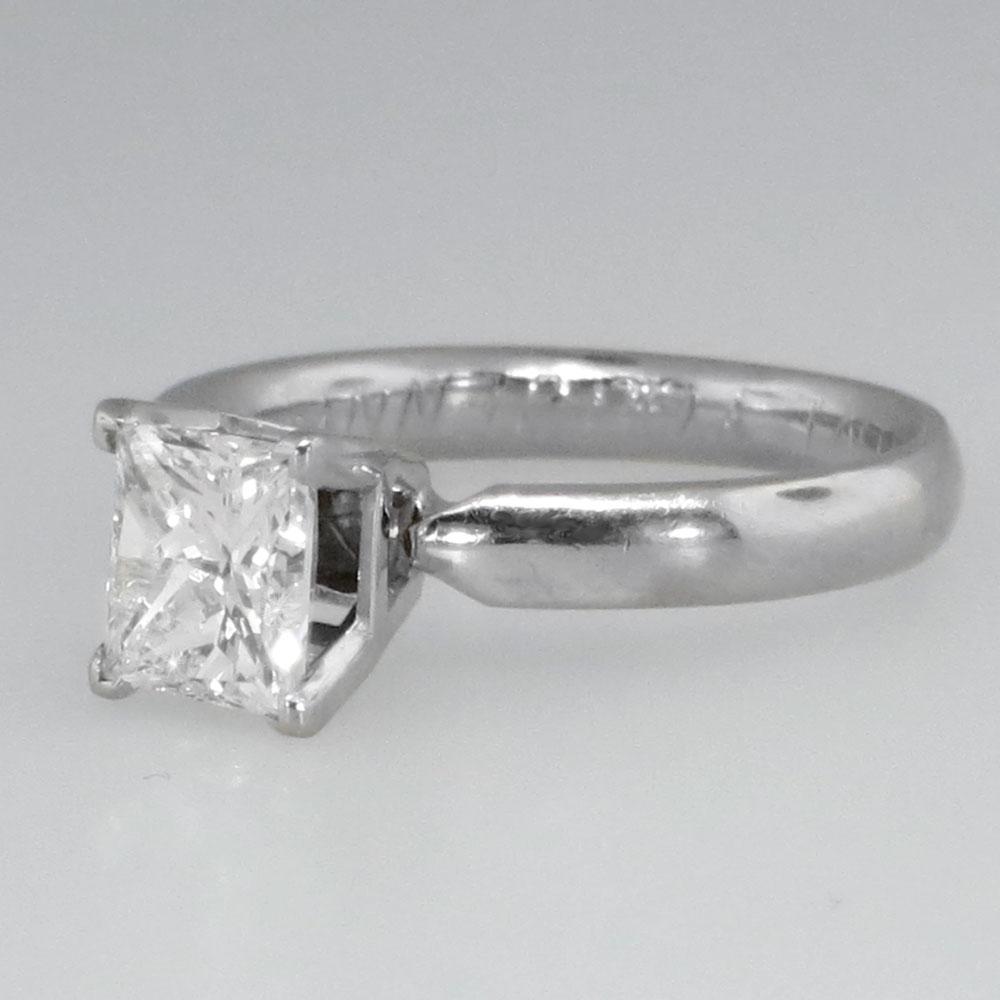 gorgeous estate 1 42ct princess cut engagement