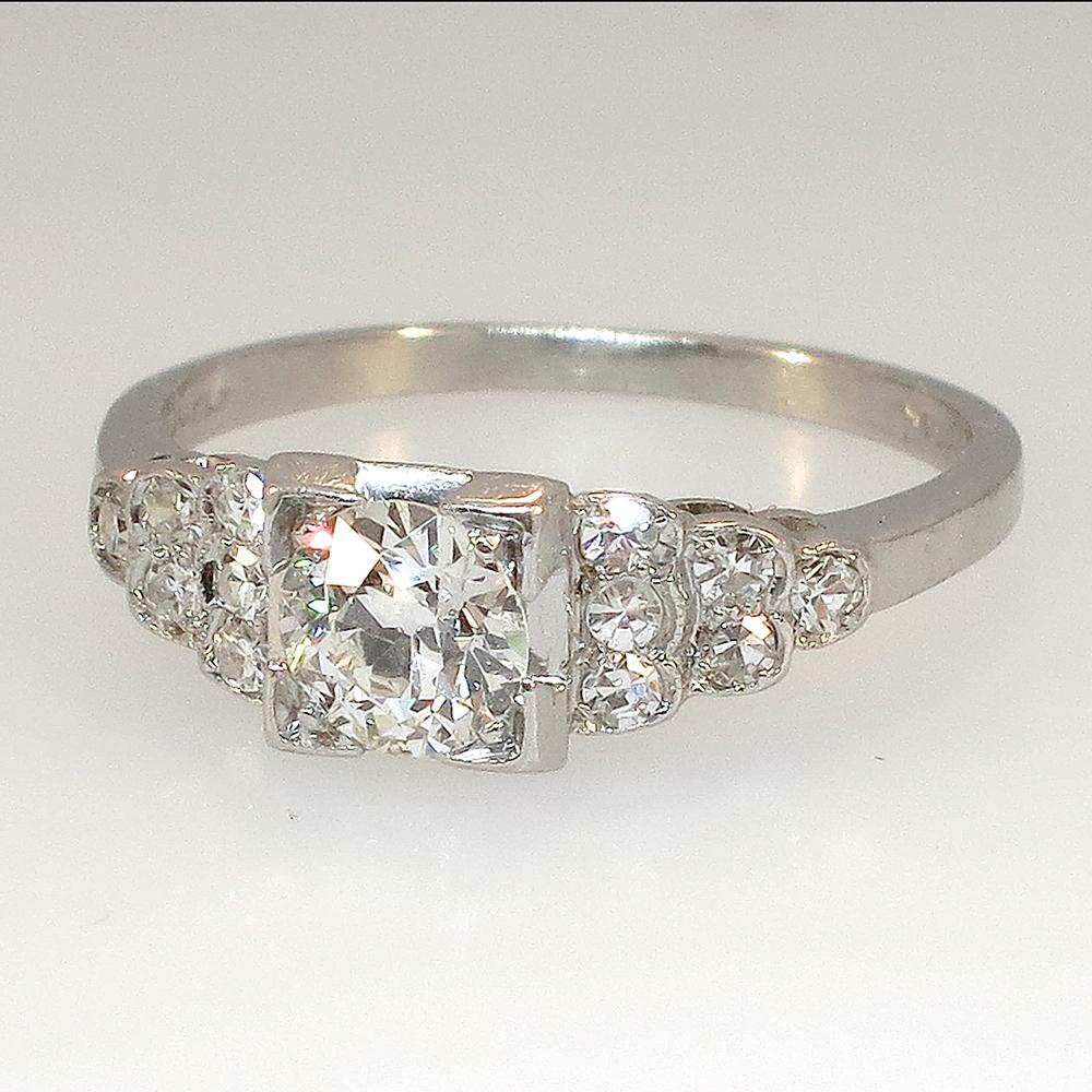 Timeless Original Art Deco Diamond Engagement Ring ...