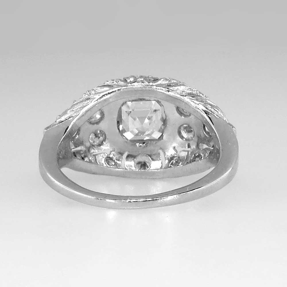beautiful deco 1 56ctw asscher cut engagement ring platinum antique estate