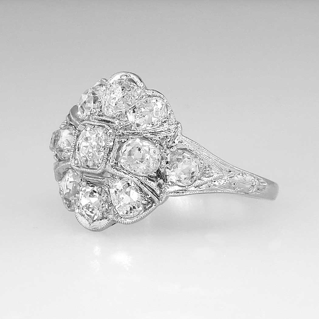 Elegant Authentic 1920s 1 30ctw Old Mine Cut Diamond Ring