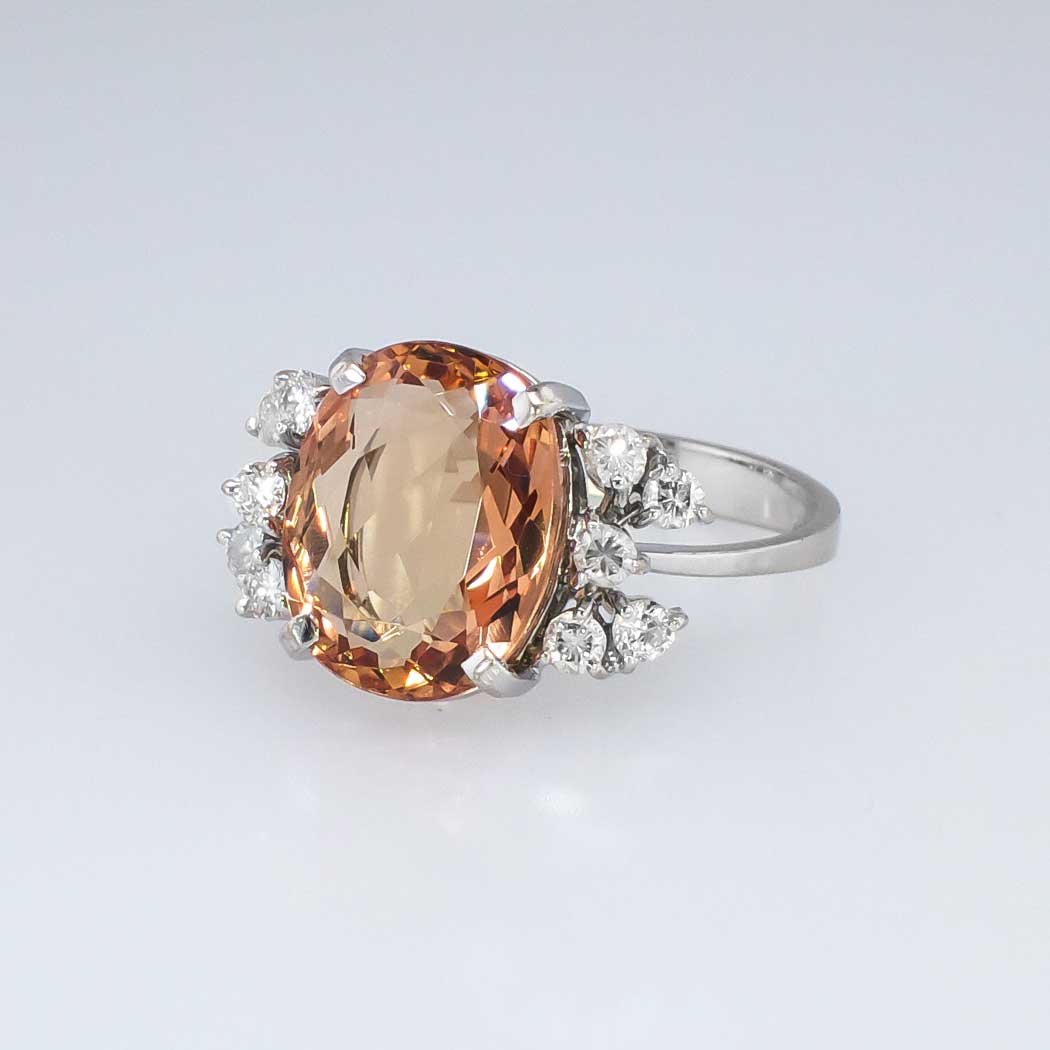 Pink Imperial Topaz Ring