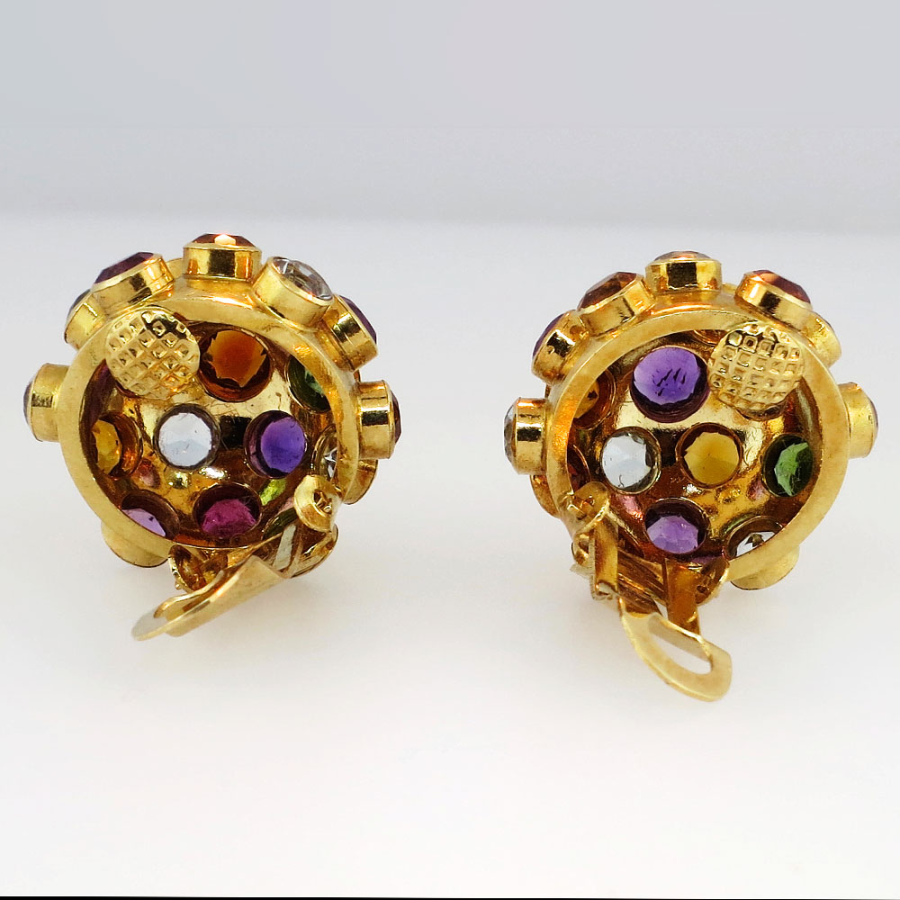 hstern earrings h multi gem sputnik 18k earrings antique 4589