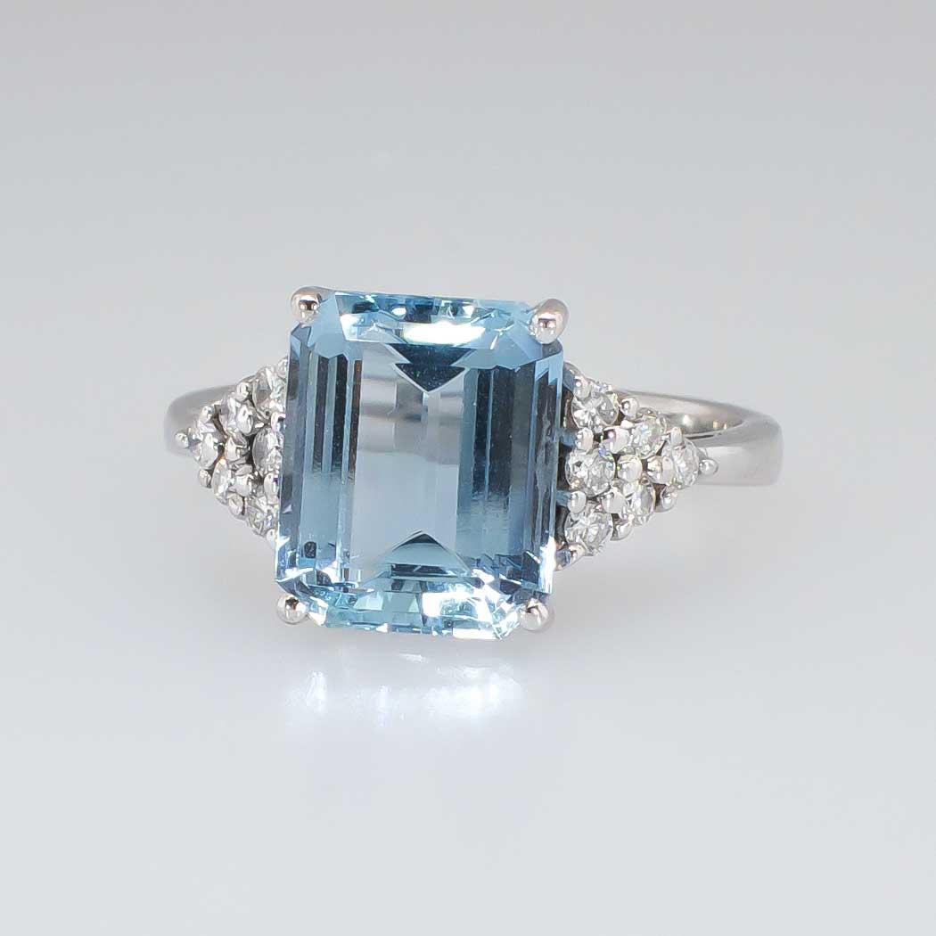 Gorgeous H Stern 4 66ct T W Aquamarine Amp Diamond Ring