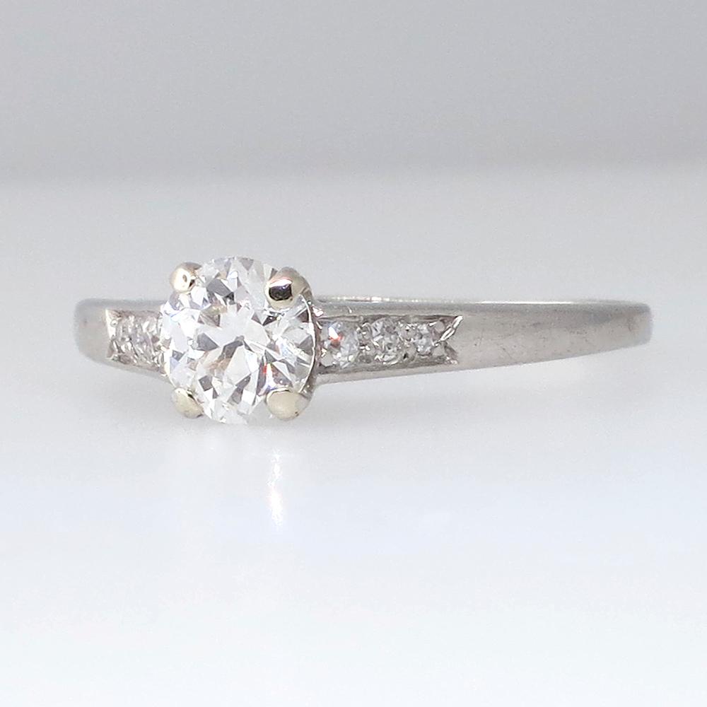 authentic cartier edwardian platinum engagement