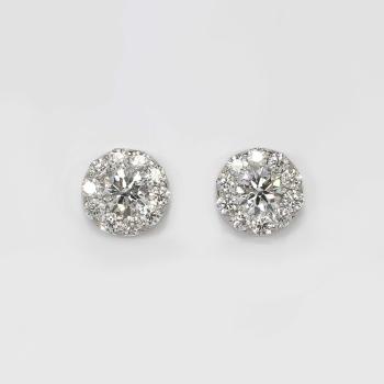 f2469f87d ... Estate 2ct t.w. Fulfillment Hearts On Fire Diamond Stud Earrings 18k ...