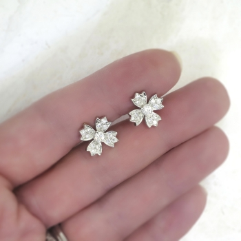 Estate Tiffany Amp Co 70ct T W Diamond Floret Snowflake