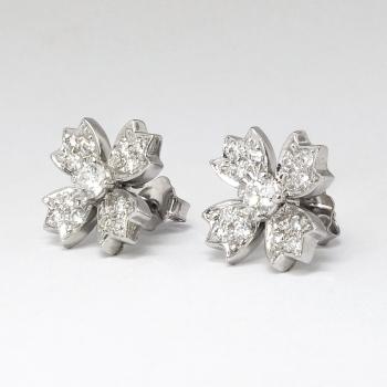 Estate Tiffany Amp Co 70ct T W Diamond Floret Snowflake