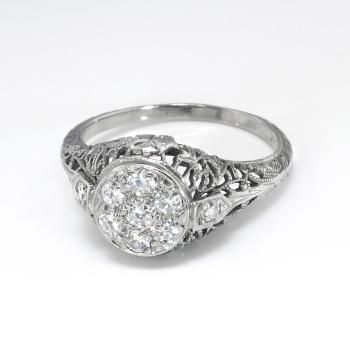 Art Deco Engagement Ring Circa 1930 S Vintage Diamond