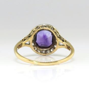 Art Deco Vintage 1930 S Amethyst Old Mine Cut Diamond
