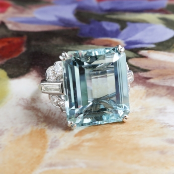 estate gems collections diamond emerald and colombian emeraldring jewelry ring platinum vintage large gallery earthfire