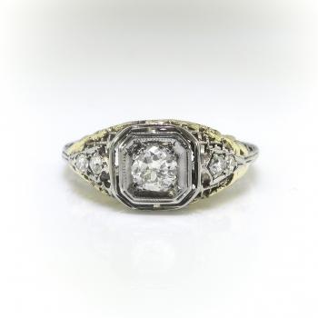 Art Deco Engagement Ring Vintage 1930 S 42ct T W