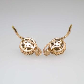 Beautiful Victorian Old Mine Cut Diamond Amp Pearl Earrings