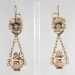 Antique Victorian 1890's Old Mine Cut Diamond Chandelier Floral Wedding Black Tie Earrings 10k Rose Gold