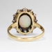Perfect 1890's 2.5ctw Opal & Old European Cut Diamond Halo Ring 18k