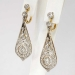 Rare 2.28ct t.w. 1900's Lacey Old European Cut Diamond Chandelier Earrings 18k Sterling Silver