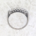 Vintage 1940's .28ct t.w. Seven Diamond Wedding Ring Band Platinum