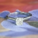 Estate .68ct Jeff Cooper Cushion Cut Diamond Solitaire Engagement Ring 14k