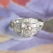 Art Deco 1930's Vintage 1.08ct t.w. Old European Cut Diamond Engagement Ring Platinum