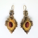 Antique Cameo Earrings Victorian Circa 1890's Carnelian Cameo Pearl Drop Chandelier Earrings 14k Gold