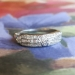 Art Deco 1930's .51ct t.w. Mixed Baguette & Single Cut Diamond Wedding Stacking Band Ring Platinum