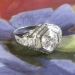 Art Deco 1930's 2ct t.w. Old European Cut Diamond Engagement Ring Platinum 14k