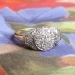 Art Deco .54ct t.w. 1930's Old European Cut Diamond Halo Engagement Ring Two Tone 14k