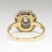 Art Deco 1930's 1.18ct t.w. Old European Cut Diamond Double Halo Two Tone Engagement Ring 14k Platinum