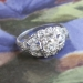 Vintage 1940's .77ct t.w. Old European Cut Marquise Cut Diamond Engagement Ring Platinum