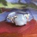 Vintage Retro 1950's 5.31ct t.w. Natural Gray Lavender Star Sapphire Diamond 14k White Gold Ring