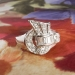 Vintage Retro 1950's 1ct t.w. Mixed Cut Diamond Spray Cocktail Anniversary Ring 14k White Gold