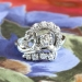 Estate Vintage 1940's Jabel .79ct t.w. Old European Cut Diamond Spray Cocktail Anniversary 18k Ring