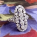 Edwardian 1920's Vintage 1.99ct t.w. Old European Cut Diamond Engagement Anniversary Cocktail Ring Platinum