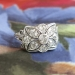 Vintage Art Deco 1930's .67ct t.w. Old European Cut Floral Filigree Engagement Cocktail Anniversary Ring 14k Platinum