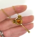 Antique Art Nouveau 1900's 1.95ct Citrine & Pearl Floral Pendant Necklace 14k Yellow Gold