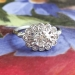 Art Deco Vintage 1930's Orange Blossom Old Transitional Cut Diamond Engagement Ring Platinum