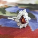 Elegant Estate 1.90ct t.w. Rich Red Ruby & Mixed Cut Diamond Ring Platinum