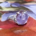 Art Deco Vintage 1930's No Heat Purple Star Sapphire Diamond Cocktail Anniversary Birthstone Engagement Ring Platinum