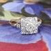 Art Deco Diamond Engagement Ring Circa 1930's Old European Cut Diamond Halo Wedding Anniversary Ring 14k Gold