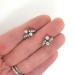Antique Victorian 1890's .76ct t.w. Old Mine Cut & Rose Cut Diamond Drop Huggie Hoop Earrings 18k Sterling Silver