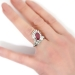 Vintage Estate 1950's Ruby Diamond Cocktail Anniversary Birthstone Ring Platinum