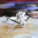 Vintage 1970's Pear Diamond Solitaire Engagement Anniversary Graduation Buttercup Ring 18k White Gold