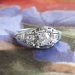Vintage Art Deco 1930's Old Mine European Cut Diamond Engagement Wedding Anniversary Ring 18k White Gold