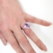 Estate Tiffany & Co. Octagon Natural Purple Amethyst Sparklers Ring Sterling Silver